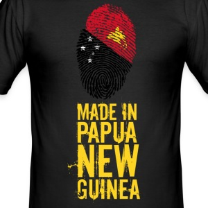 Made In Papua New Guinea / Papua-Neuguinea - Männer Slim Fit T-Shirt