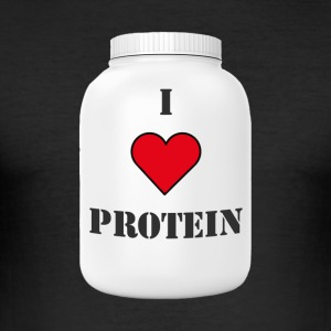 I LOVE PROTEIN - Männer Slim Fit T-Shirt
