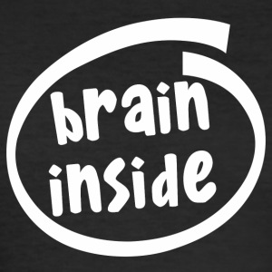 brain inside (1800B) - Men's Slim Fit T-Shirt