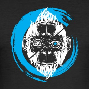 Scimmia_cambia_3 Monkey - Slim Fit T-shirt herr