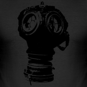 gas-mask2 - Herre Slim Fit T-Shirt