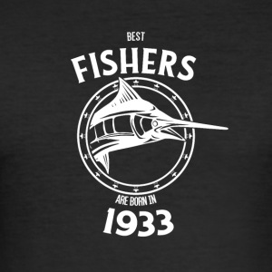 Present for fishers born in 1933 - Men's Slim Fit T-Shirt