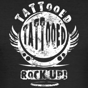 TATTOOED - WHITE - Men's Slim Fit T-Shirt