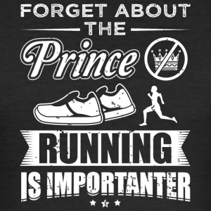 Running FORGET PRINCE - Men's Slim Fit T-Shirt