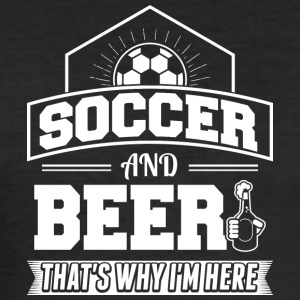 voetbal EN BIER - slim fit T-shirt