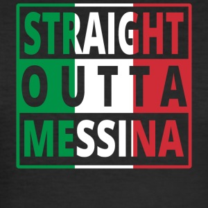 Straight Outta Italia Italie Messina - Tee shirt près du corps Homme