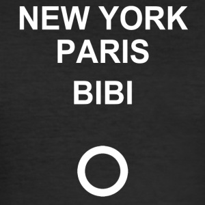 New York, Paris, Bibi! - Männer Slim Fit T-Shirt