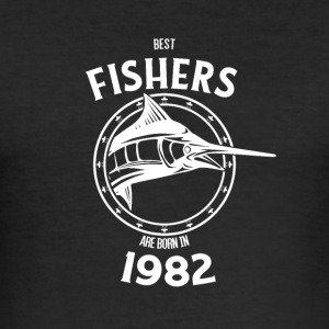 Present for fishers born in 1982 - Men's Slim Fit T-Shirt