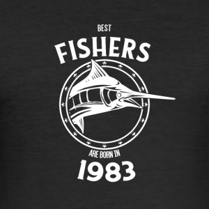Present for fishers born in 1983 - Men's Slim Fit T-Shirt