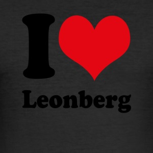 I love Leonberg - Männer Slim Fit T-Shirt