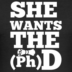 Doctor / Doctor: She Wants The D - Men's Slim Fit T-Shirt