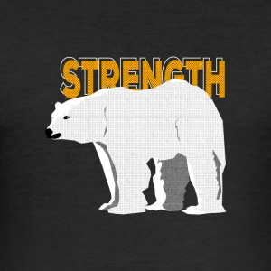 Polar Bear - Spirit Animal - Men's Slim Fit T-Shirt
