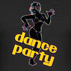 dance party with sexy girl black - Men's Slim Fit T-Shirt
