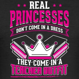 REAL PRINCESSES teacher - Men's Slim Fit T-Shirt