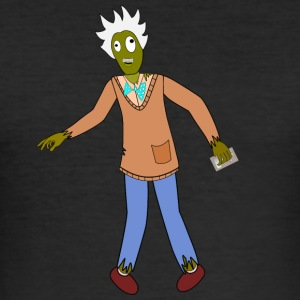 matematisk zombie - Slim Fit T-skjorte for menn