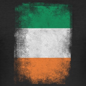 Ireland Flag Proud Irish Vintage Distressed - Slim Fit T-shirt herr