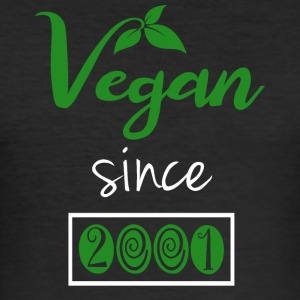 Vegan siden 2001 - Herre Slim Fit T-Shirt