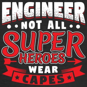 IKKE ALLE SUPER HEROES SLITASJE CAPES - ENGINEER - Slim Fit T-skjorte for menn
