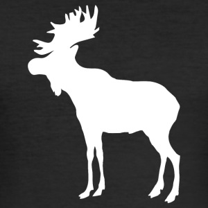 Älg · Elk · Moose - Slim Fit T-shirt herr
