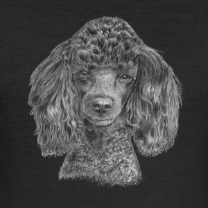 poodle-black-P - Men's Slim Fit T-Shirt