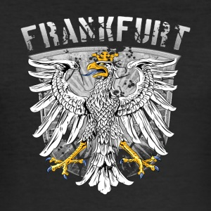 Frankfurt Wappenadler Design Silver Edition - Slim Fit T-skjorte for menn
