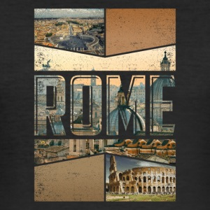 Rome Roma Rome city design as a souvenir - Men's Slim Fit T-Shirt
