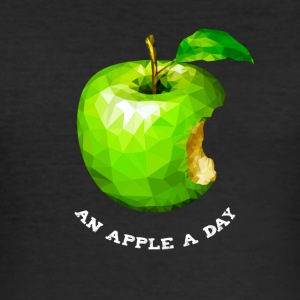 An apple a day Nerd Programmers Pc System grü - Men's Slim Fit T-Shirt
