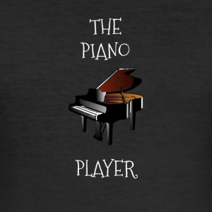 Piano spiller - Slim Fit T-skjorte for menn