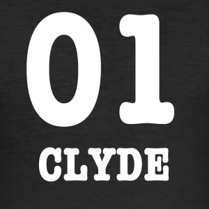 clyde white - Slim Fit T-skjorte for menn