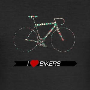 Bike Rennrad Kreismuster - Männer Slim Fit T-Shirt