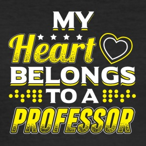 My Heart tilhører en professor - Slim Fit T-skjorte for menn