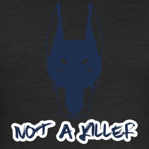 Hund / Doberman: Ingen a Killer - Herre Slim Fit T-Shirt
