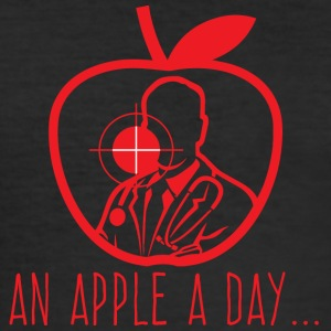 Doctor / Health Practitioner: An Apple A Day Keeps The Doctor - Men's Slim Fit T-Shirt