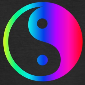 Rainbow Ying Yang - Herre Slim Fit T-Shirt
