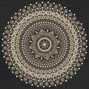 Mandala in beige-bruine tinten - slim fit T-shirt