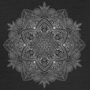 Mandala hand drawn in white - Men's Slim Fit T-Shirt