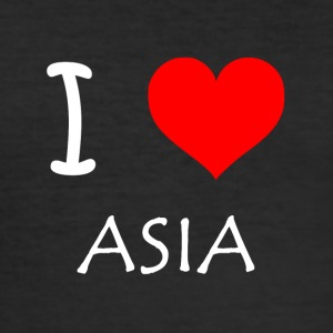 I Love ASIEN - Herre Slim Fit T-Shirt