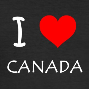 I Love Canada - Herre Slim Fit T-Shirt