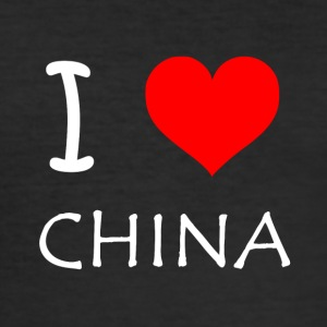 I Love CHINA - Männer Slim Fit T-Shirt