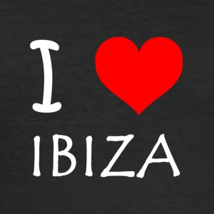 I Love Ibiza - Herre Slim Fit T-Shirt