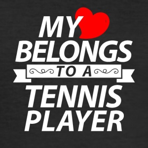 My heart belongs to a tennis player - Men's Slim Fit T-Shirt
