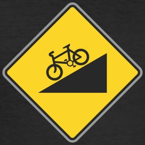 Road Sign angle bicycle way - Men's Slim Fit T-Shirt