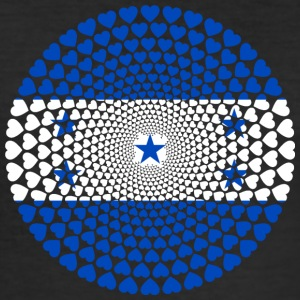 HONDURAS Love HEART Mandala - Men's Slim Fit T-Shirt