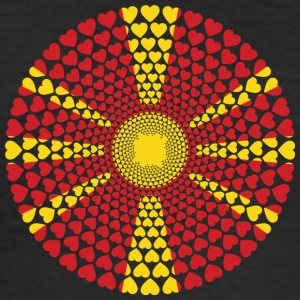 Makedonien Makedonien Kærlighed HEART Mandala - Herre Slim Fit T-Shirt