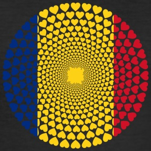 Romania Romania România Love HERZ Mandala - Men's Slim Fit T-Shirt