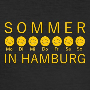 Sommer in Hamburg - Männer Slim Fit T-Shirt