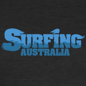 AUSTRALIA Surfing Country Water - Men's Slim Fit T-Shirt