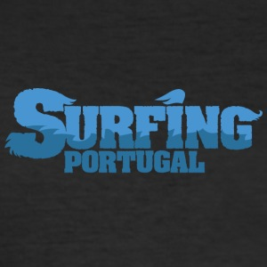 PORTUGAL Surfing Water Country - Herre Slim Fit T-Shirt