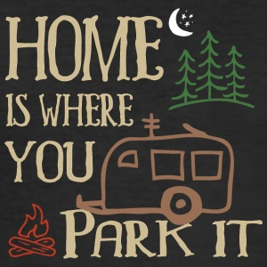 RVing Home Is Where You Park It - Tee shirt près du corps Homme