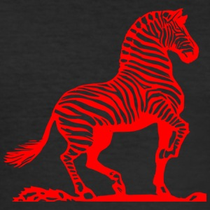 Rød zebra - Herre Slim Fit T-Shirt